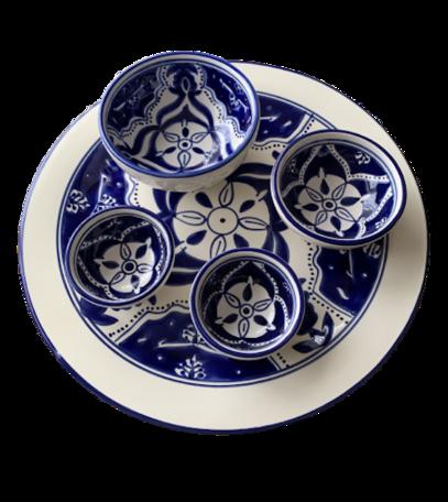 Tapas Party set 5 delig Blue Fond   TP.PY.BLF   Dishes & Deco