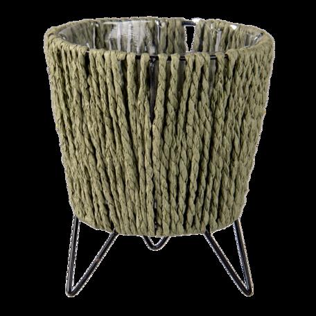 Planthouder ø 11*18 cm Groen | 64846 | Clayre & Eef