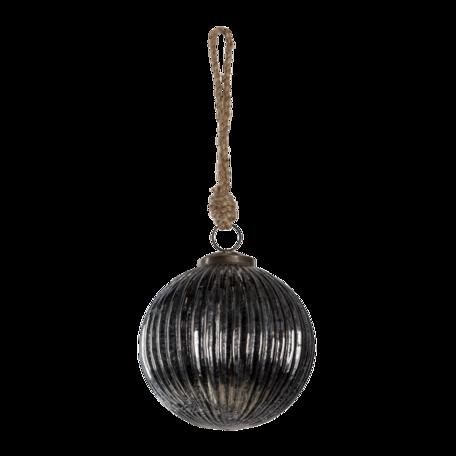Kerstbal ø 11*11 cm Zilverkleurig | 6GL3145 | Clayre & Eef