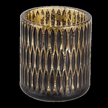 Waxinelichthouder ø 8*9 cm Zwart | 6GL3244 | Clayre & Eef