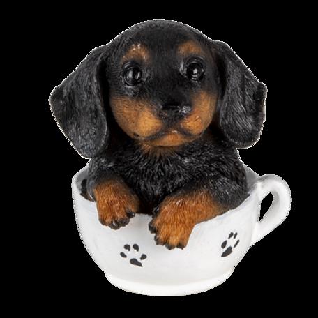 Decoratie hond 8*7*9 cm Multi | 6PR3371 | Clayre & Eef
