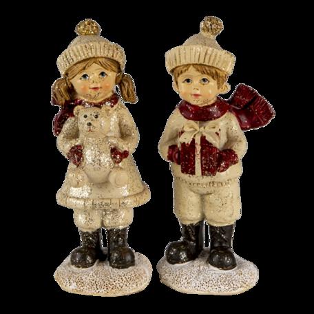 Decoratie kinderen (2) 4*4*11 cm Multi | 6PR3505 | Clayre & Eef