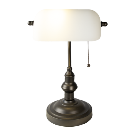 Klassieke Bureaulamp ø 27*40 cm E27/max 1*60W Wit   5LL-5125W   Clayre & Eef