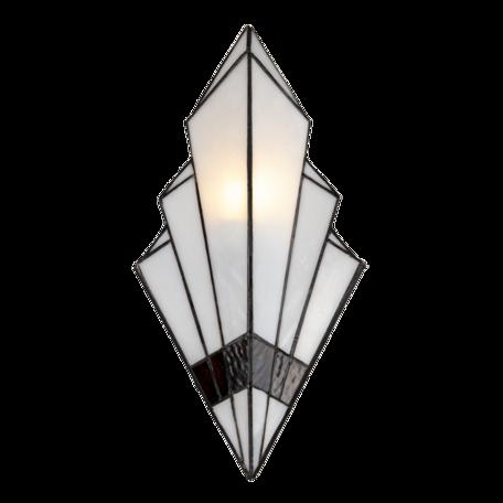 Wandlamp Tiffany 23*13*43 cm E27/max 1*40W Wit   5LL-6083   Clayre & Eef