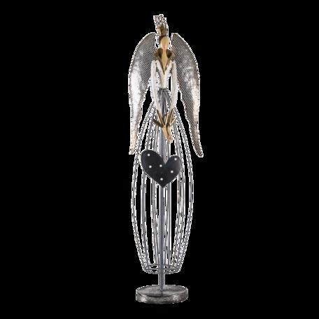 Decoratie engel 28*15*97 cm Zilverkleurig | 5Y0942 | Clayre & Eef