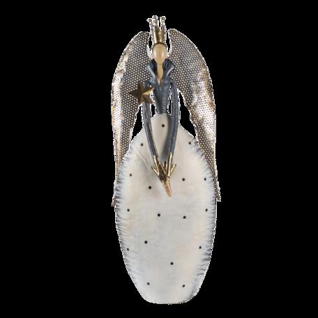Decoratie engel 30*14*69 cm Zilverkleurig | 5Y0944 | Clayre & Eef