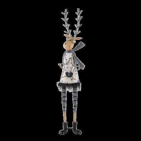 Decoratie rendier 23*13*95 cm Grijs | 5Y0946 | Clayre & Eef