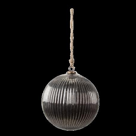 Kerstbal ø 25*25 cm Zilverkleurig | 6GL3146 | Clayre & Eef