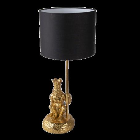 Tafellamp aap ø 23*45 cm E27/max 1*60W Goudkleurig   6LMC0048   Clayre & Eef