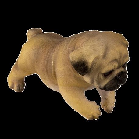 Decoratie hond 18*12*14 cm Bruin | 6PR3334 | Clayre & Eef