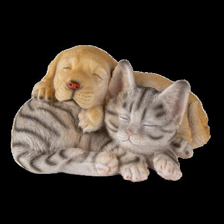 Decoratie hond en kat 20*15*11 cm Multi | 6PR3336 | Clayre & Eef