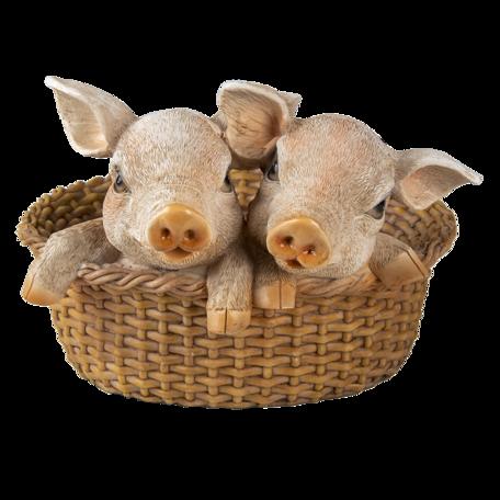 Decoratie varkens 11*11*16 cm Multi | 6PR3337 | Clayre & Eef