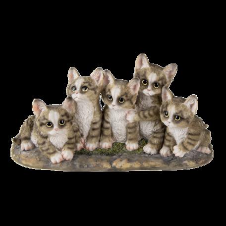 Decoratie katten 32*13*16 cm Grijs | 6PR3338 | Clayre & Eef