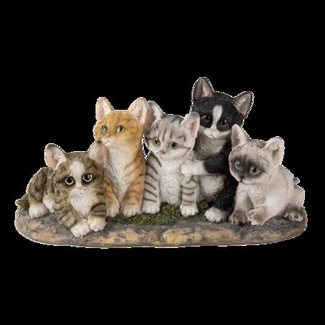 Decoratie katten 32*13*16 cm Multi | 6PR3339 | Clayre & Eef