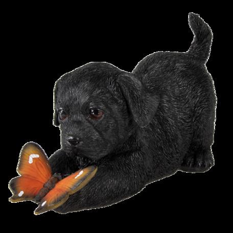 Decoratie hond 20*8*11 cm Zwart | 6PR3359 | Clayre & Eef