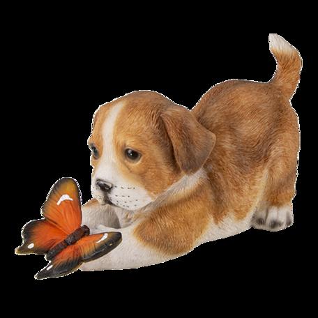 Decoratie hond 20*8*11 cm Bruin | 6PR3360 | Clayre & Eef