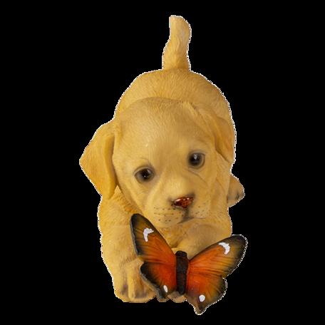 Decoratie hond 20*8*11 cm Bruin | 6PR3361 | Clayre & Eef