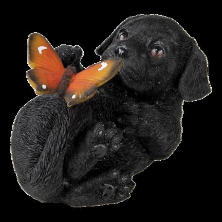 Decoratie hond 14*9*10 cm Zwart | 6PR3362 | Clayre & Eef