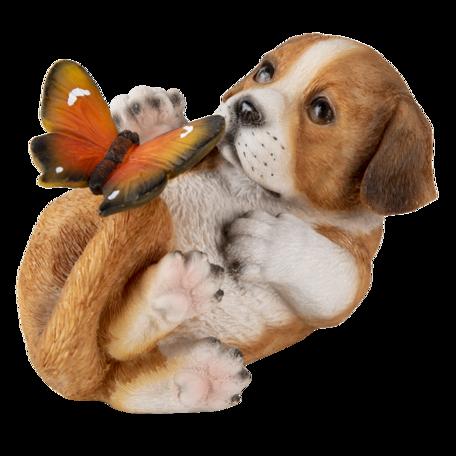 Decoratie hond 14*9*10 cm Bruin | 6PR3363 | Clayre & Eef