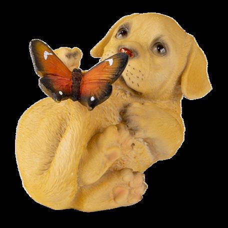Decoratie hond 14*9*10 cm Bruin | 6PR3364 | Clayre & Eef