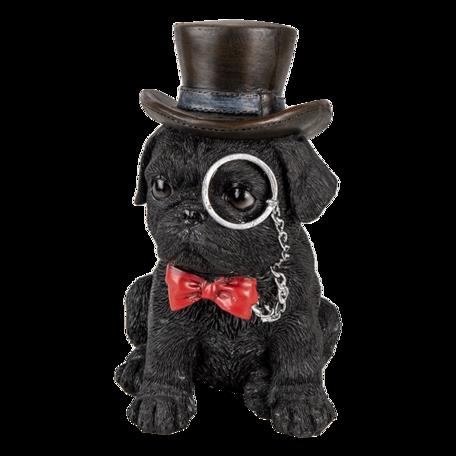 Decoratie hond 13*9*17 cm Zwart | 6PR3369 | Clayre & Eef