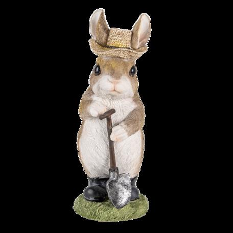 Decoratie konijn 9*8*22 cm Bruin | 6PR3373 | Clayre & Eef