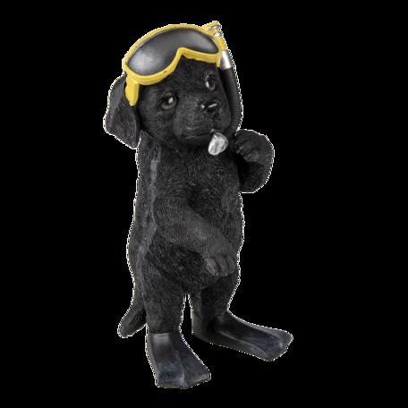 Decoratie hond 11*11*23 cm Zwart | 6PR3374 | Clayre & Eef