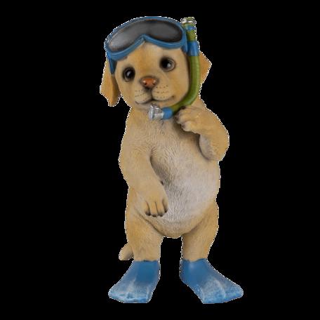 Decoratie hond 11*11*23 cm Bruin | 6PR3375 | Clayre & Eef