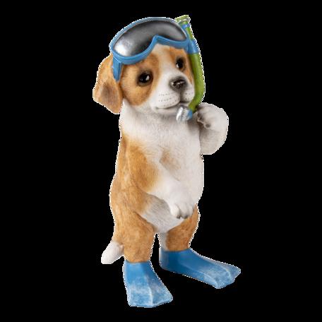 Decoratie hond 11*11*23 cm Bruin | 6PR3376 | Clayre & Eef