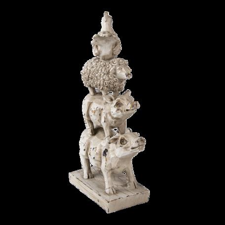 Decoratie dieren 17*8*32 cm Multi | 6PR3393 | Clayre & Eef