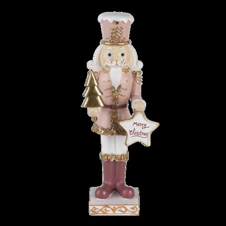 Decoratie notenkraker 9*7*22 cm Roze | 6PR3479 | Clayre & Eef