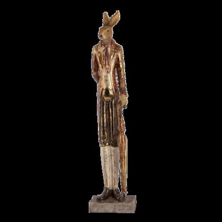 Decoratie konijn met paraplu 11*9*51 cm Rood | 6PR3497 | Clayre & Eef