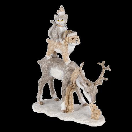 Decoratie hert 17*9*21 cm Multi | 6PR4645 | Clayre & Eef