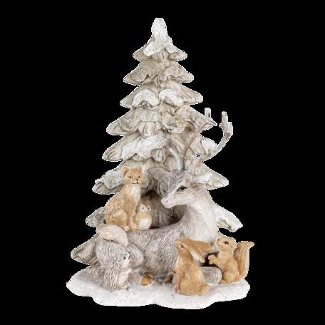 Decoratie katten bij kerstboom 14*11*20 cm Multi | 6PR4649 | Clayre & Eef