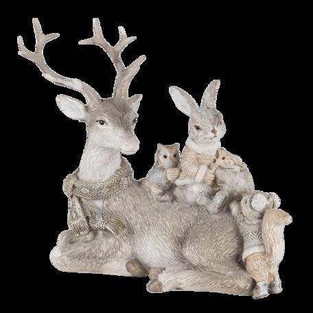 Decoratie dieren 20*10*16  cm Grijs | 6PR4651 | Clayre & Eef