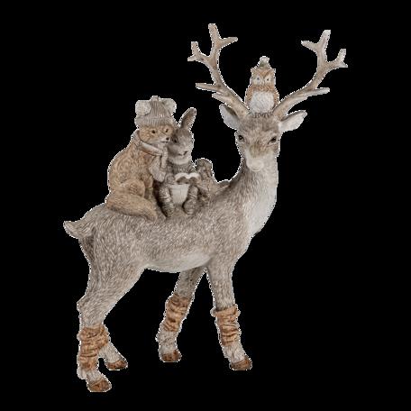 Decoratie dieren 20*8*25  cm Grijs | 6PR4652 | Clayre & Eef