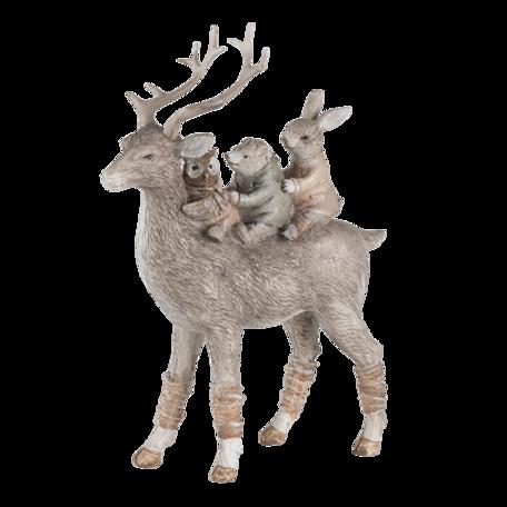 Decoratie dieren 18*11*25  cm Grijs | 6PR4653 | Clayre & Eef