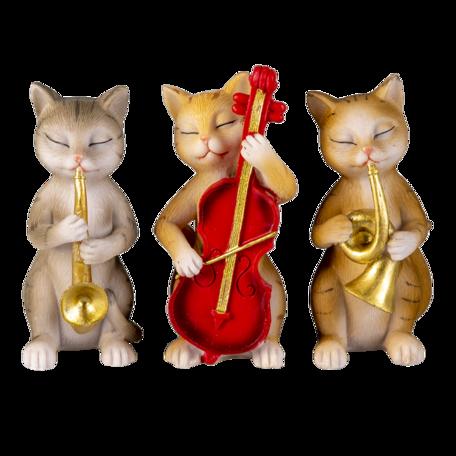 Decoratie katten 14*6*10 cm Wit | 6PR4683 | Clayre & Eef