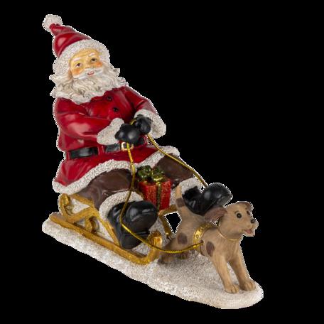Decoratie kerstman op slee 24*8*16 cm Multi | 6PR4710 | Clayre & Eef