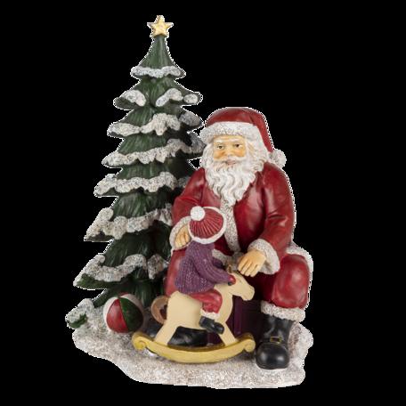 Decoratie kerstman met kind 16*13*22 cm Multi | 6PR4714 | Clayre & Eef