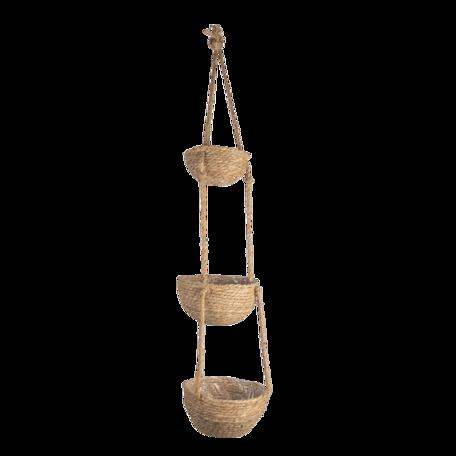 Planthouder hangend ø 25*117 cm Bruin | 6RO0532 | Clayre & Eef