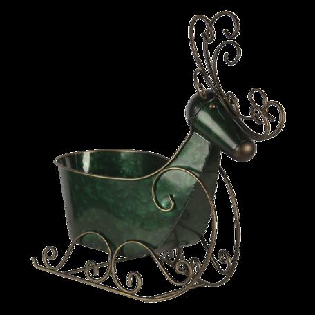 Decoratie slee 34*17*37 cm Groen | 6Y4444 | Clayre & Eef