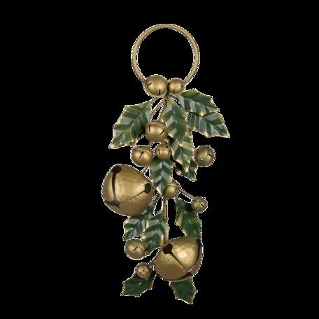 Decoratie kersttak 23*8*52 cm Multi | 6Y4449 | Clayre & Eef