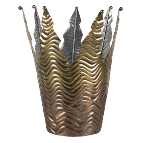 Decoratie kroon ø 25*27 cm Goudkleurig | 6Y4591 | Clayre & Eef