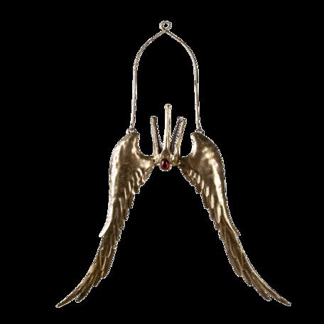 Hanger vleugels met kroon 51*4*62 cm Goudkleurig | 6Y4597 | Clayre & Eef