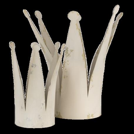 Decoratie kroon (2)  36*32*37 cm Grijs | 6Y4599 | Clayre & Eef