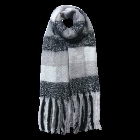 Sjaal 50*180 cm Zwart | JZSC0478Z | Clayre & Eef