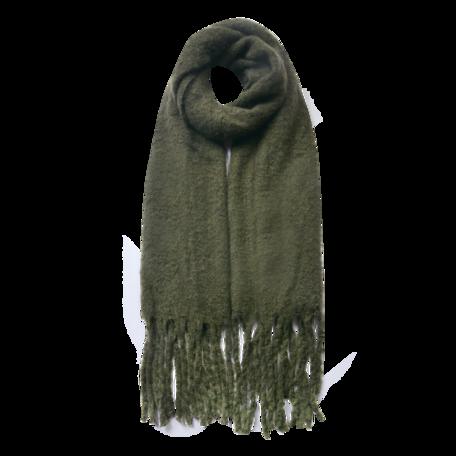 Sjaal 50*180 cm Groen | JZSC0479DGR | Clayre & Eef