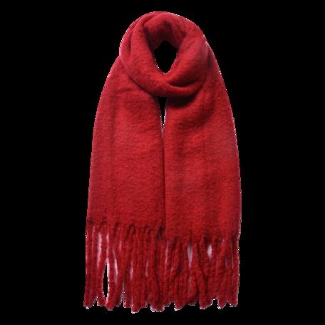 Sjaal 50*180 cm Rood | JZSC0479R | Clayre & Eef