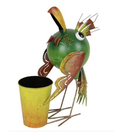 Plantenhouder vogel metaal  36 x 28 x 16 cm   SA104836   Sarana Fairtrade
